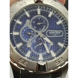 Armitron Men's Silver Blue Watch 6p77